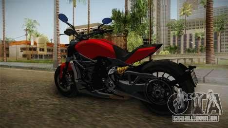Ducati XDiavel S 2016 IVF para GTA San Andreas traseira esquerda vista