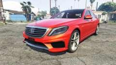 Mercedes-Benz S63 red brake caliper [add-on]