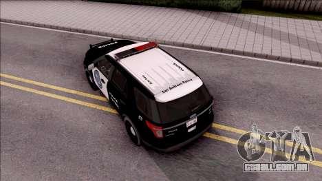 Ford Explorer Police San Andreas Patrol para GTA San Andreas