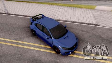 Honda Civic Type-R 2017 para GTA San Andreas vista direita