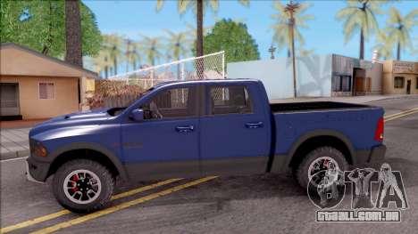 Dodge Ram Rebel 2017 para GTA San Andreas esquerda vista