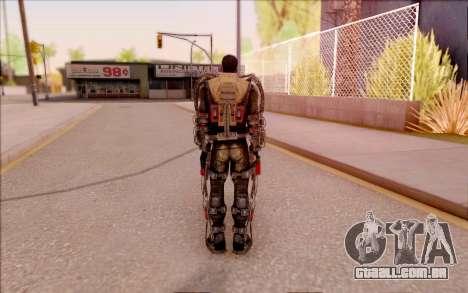 Degtyarev no exoesqueleto de S. T. A. L. K. E. R para GTA San Andreas quinto tela