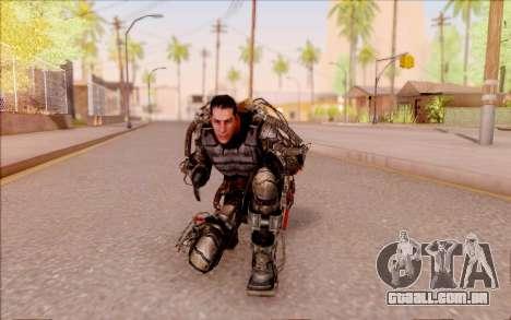 Degtyarev no exoesqueleto de S. T. A. L. K. E. R para GTA San Andreas sexta tela