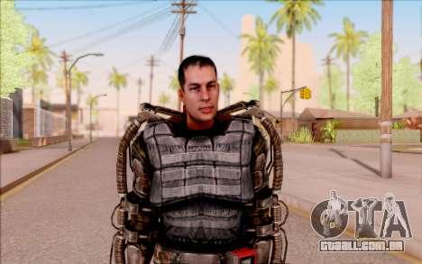 Degtyarev no exoesqueleto de S. T. A. L. K. E. R para GTA San Andreas segunda tela