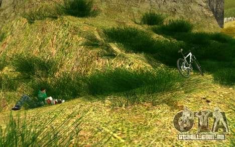 Um grupo de ciclistas na natureza para GTA San Andreas