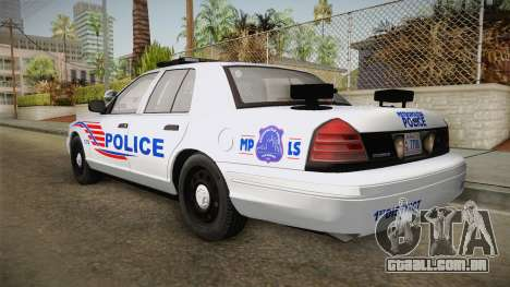 Ford Crown Victoria Police v1 para GTA San Andreas vista direita