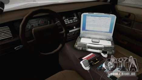 Ford Crown Victoria Police v1 para GTA San Andreas vista interior