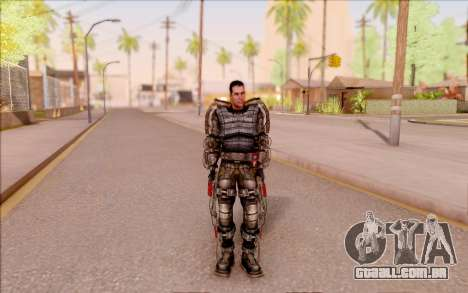 Degtyarev no exoesqueleto de S. T. A. L. K. E. R para GTA San Andreas terceira tela