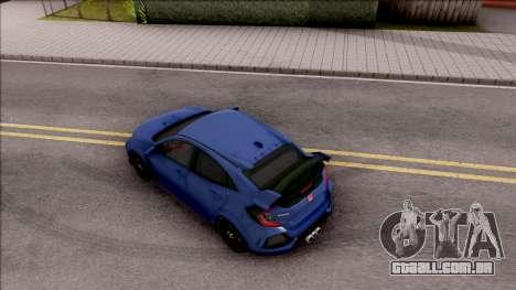 Honda Civic Type-R 2017 para GTA San Andreas vista traseira