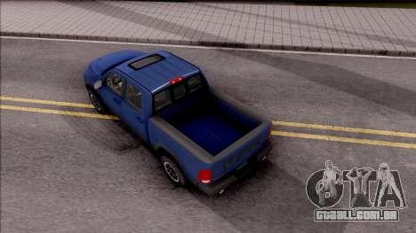 Dodge Ram Rebel 2017 para GTA San Andreas vista traseira
