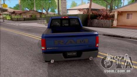 Dodge Ram Rebel 2017 para GTA San Andreas traseira esquerda vista