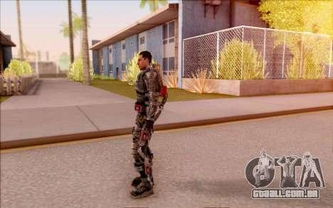 Degtyarev no exoesqueleto de S. T. A. L. K. E. R para GTA San Andreas por diante tela