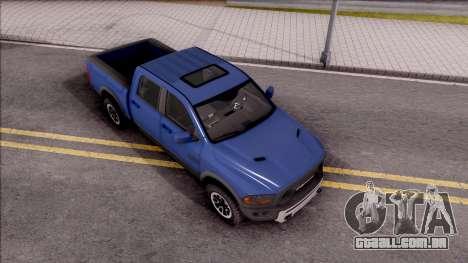 Dodge Ram Rebel 2017 para GTA San Andreas vista direita