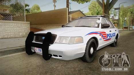 Ford Crown Victoria Police v1 para GTA San Andreas traseira esquerda vista