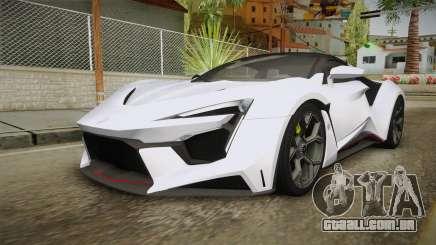 W Motors - Fenyr Supersports 2017 Dubai Plate para GTA San Andreas