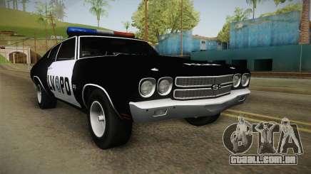 Chevrolet Chevelle SS Police LVPD 1970 v2 para GTA San Andreas