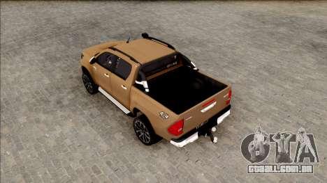 Toyota Hilux 2017 para GTA San Andreas vista traseira