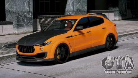 GTA 5 Maserati Levante Mansory vista lateral esquerda