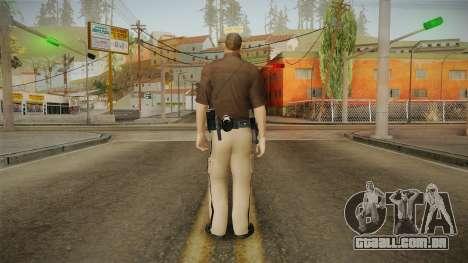 Iowa State Patrol Trooper Skin para GTA San Andreas terceira tela