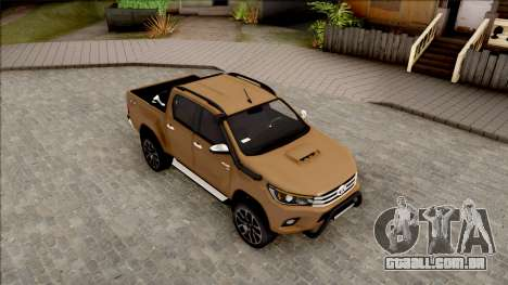 Toyota Hilux 2017 para GTA San Andreas vista direita