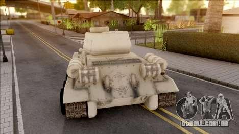 T-34 Z para GTA San Andreas traseira esquerda vista