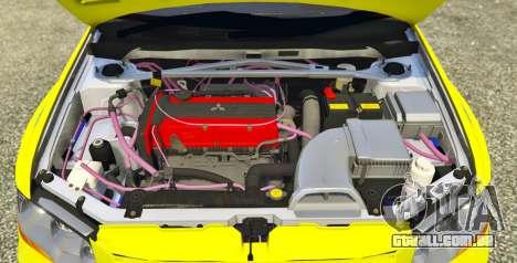 GTA 5 Mitsubishi Lancer Evolution VII 1.1 traseira vista lateral esquerda