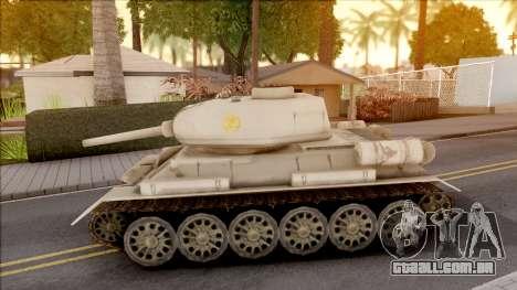 T-34 Z para GTA San Andreas esquerda vista
