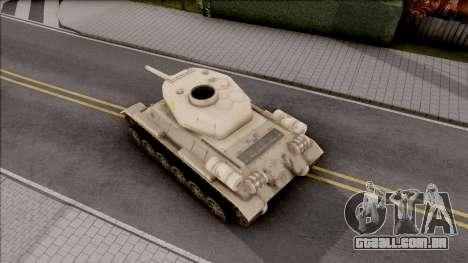 T-34 Z para GTA San Andreas vista traseira