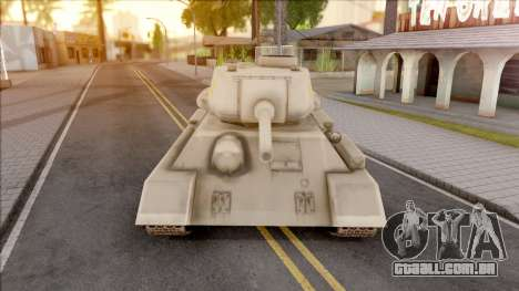 T-34 Z para GTA San Andreas vista interior