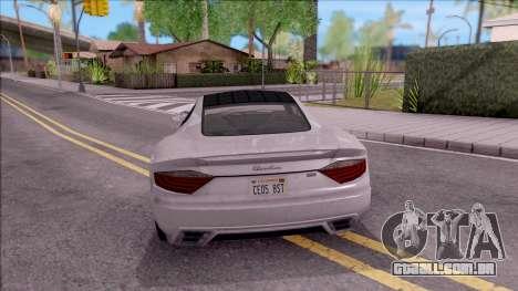 GTA V Hijak Khamelion para GTA San Andreas traseira esquerda vista