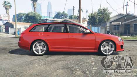 GTA 5 Audi RS6 Avant (C6) [replace] vista lateral esquerda