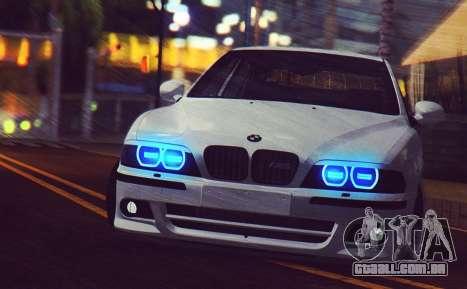 BMW M5 E39 (2017 re-styling) para GTA San Andreas esquerda vista