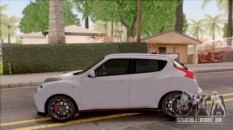 Nissan Juke Nismo RS 2014 v2 para GTA San Andreas esquerda vista