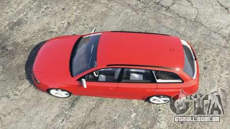 GTA 5 Audi RS6 Avant (C6) [replace] voltar vista