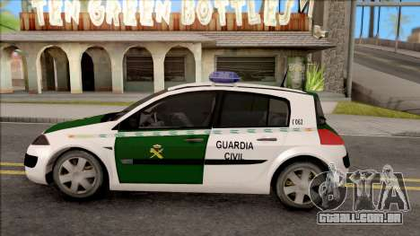 Renault Megane Guardia Civil Spanish para GTA San Andreas esquerda vista
