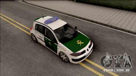 Renault Megane Guardia Civil Spanish para GTA San Andreas vista direita