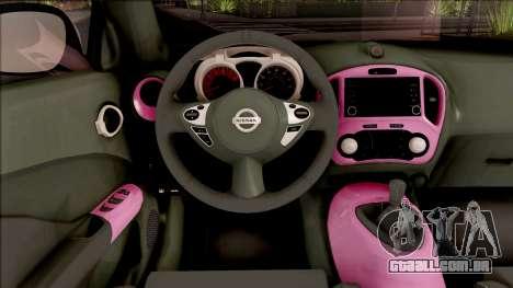 Nissan Juke Nismo RS 2014 v2 para GTA San Andreas vista interior