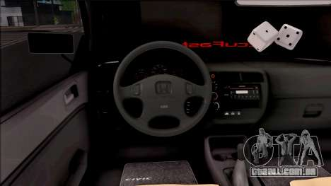 Honda Civic E.K MODS para GTA San Andreas vista interior