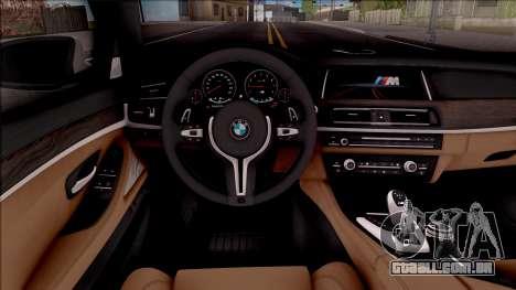 BMW M5 F10 Stock v2 para GTA San Andreas vista interior