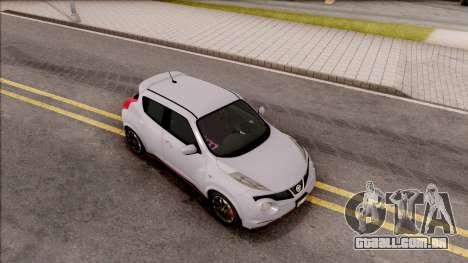 Nissan Juke Nismo RS 2014 v2 para GTA San Andreas vista direita