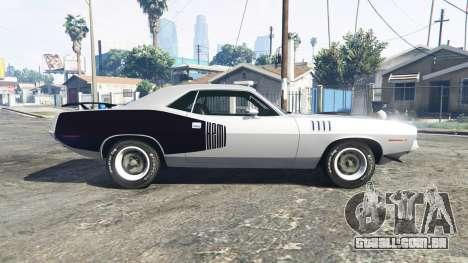 GTA 5 Playmouth Hemi Cuda (BS) 1971 [replace] vista lateral esquerda