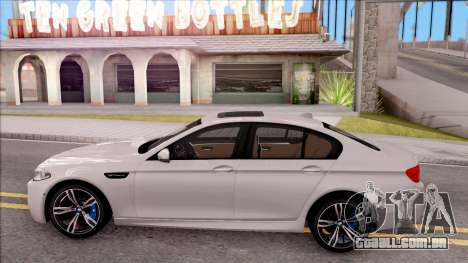 BMW M5 F10 Stock v2 para GTA San Andreas esquerda vista