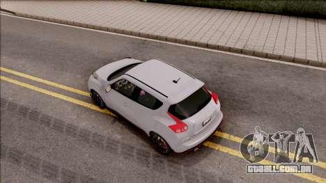 Nissan Juke Nismo RS 2014 v2 para GTA San Andreas vista traseira