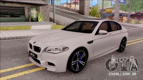 BMW M5 F10 Stock v2 para GTA San Andreas