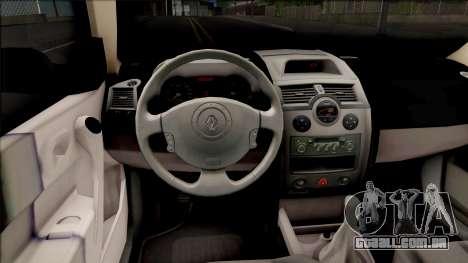 Renault Megane Guardia Civil Spanish para GTA San Andreas vista interior