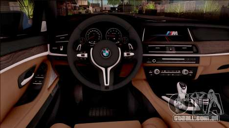 BMW M5 F10 Stock v1 para GTA San Andreas vista interior