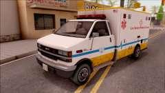 Brute Ambulance GTA V para GTA San Andreas