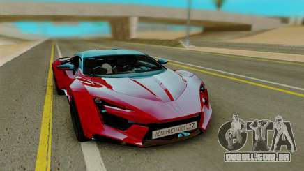 W Motors Fenyr SuperSport para GTA San Andreas
