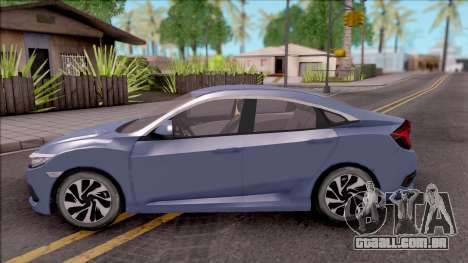 Honda Civic FC5 Low Poly with Led Lights para GTA San Andreas esquerda vista