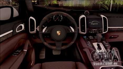 Porsche Cayenne Turbo 2013 Single Version para GTA San Andreas vista interior